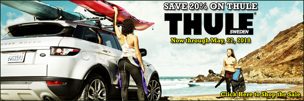Save 20% on Thule through May 27th, 2019