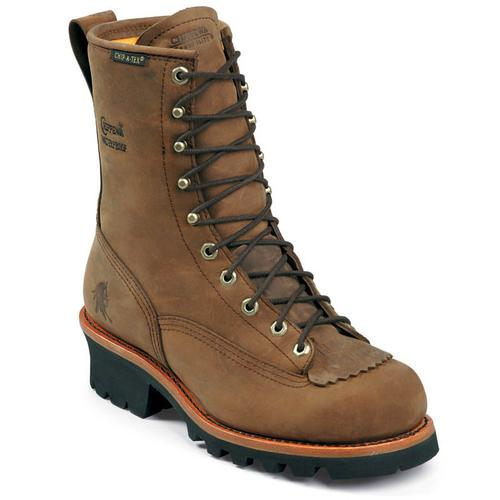 Chippewa Men's Lace to Toe Waterproof Steel Toe Logger