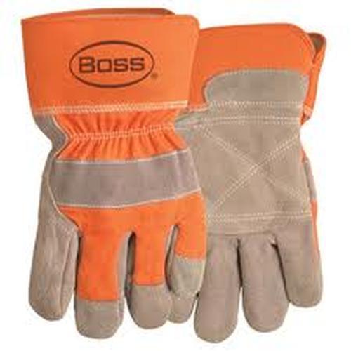 Boss Split Leather Double Palm Work Glove