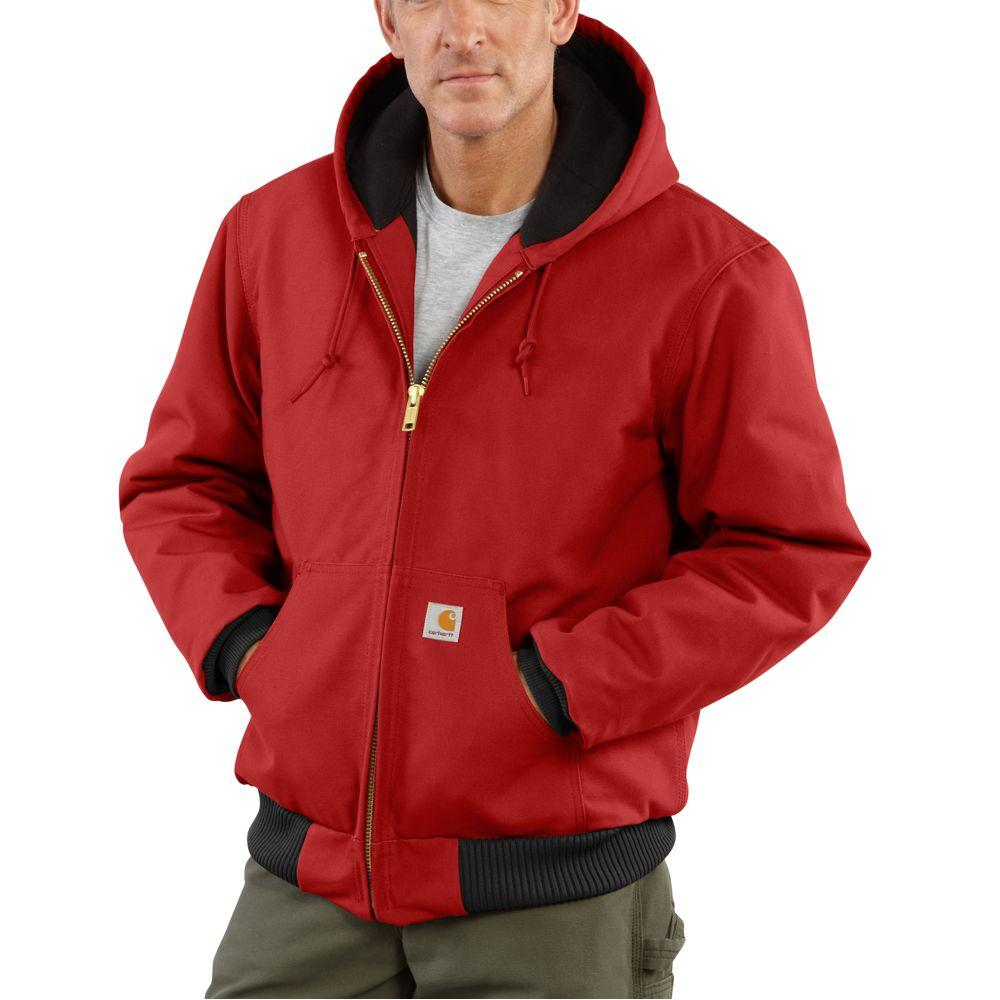Carhartt Men's Flannel Lined Active Jac RED