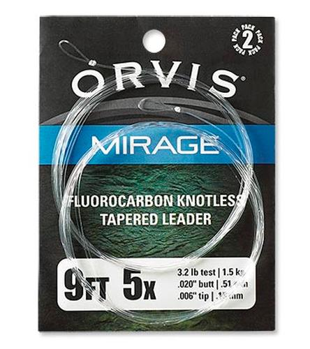 Orvis Mirage 9 Ft Flourocarbon Tapered Leader