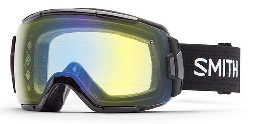 Smith Optics Vice Goggle, Black with Yellow Sensor Mirror Lens