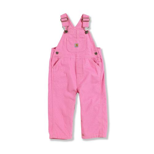 Carhartt Kid's Infant Girl's Washed Microsanded Canvas Overalls