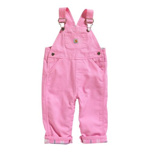 Carhartt Kids Infant Girl's Flannel Lined Microsanded Canvas Overalls