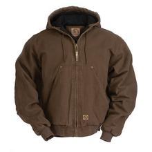 Berne Men's Original Washed Hooded Jacket BARK