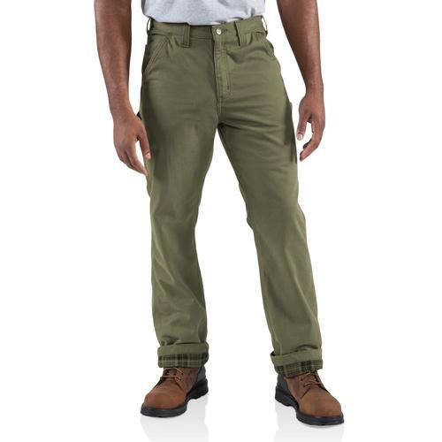 Carhartt Men's Washed-Twill Dungaree/Flannel Lined Pant