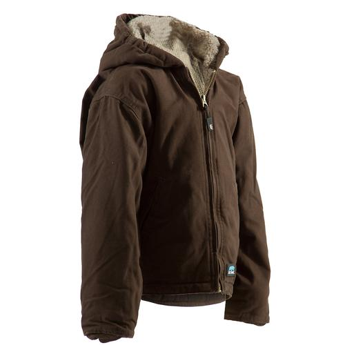 Berne Youth Boy's Washed Hooded Coat - Sherpa Lined