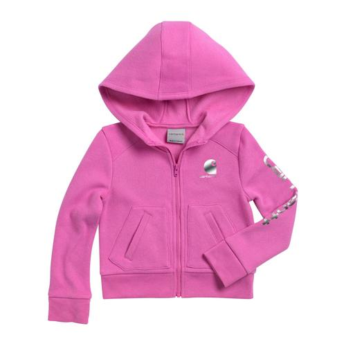 Carhartt Toddler Girl's Logo Zip Sweatshirt