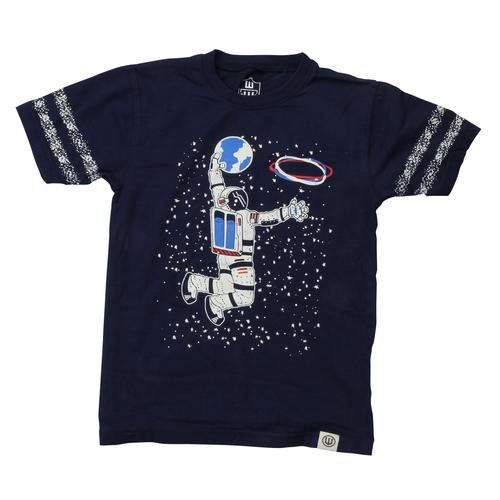 Wes and Willy Infant Boys Astronaut Slam Dunk Glow-in-the-Dark Tee