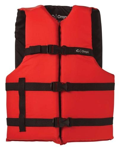 Onyx Adult General Purpose Universal PFD Vest - Red