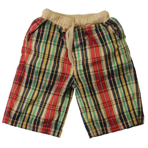 Wes and Willy Toddler Boys' Overdyed Plaid Shorts