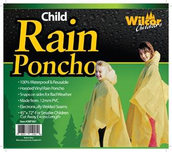 Wilcor PVC Child Rain Poncho