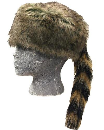 Wilcor Faux Fur Raccoon Tail Children's Hat