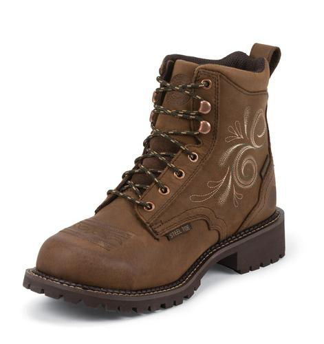 Justin Women's Gypsy Waterproof Steel Toe 6