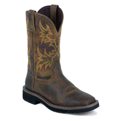 Justin Women's Cowhide Stampede Pull On EH Work Boots
