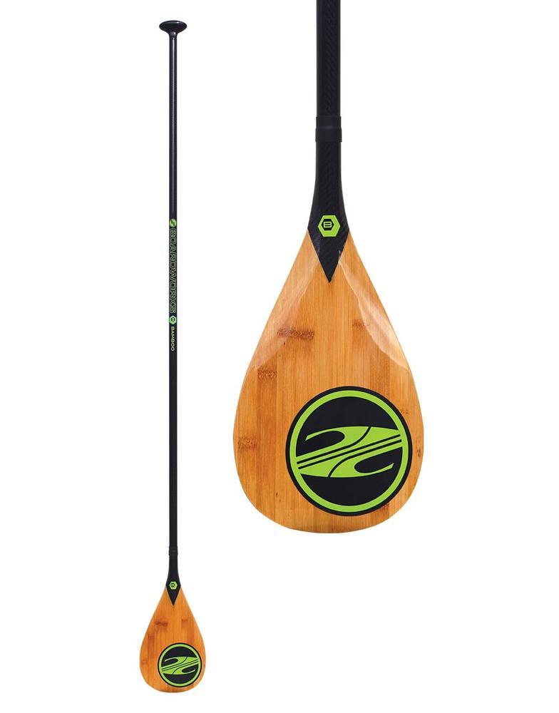 Boardworks Bamboo Veneer Carbon Sup Paddle