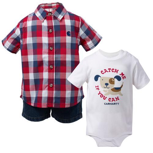 Carhartt Infant Boy's 3 Piece Shorts Gift Set