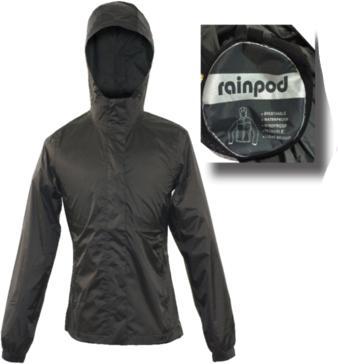 World Famous Sports Women's Rain Pod Packable Jacket