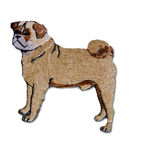Pug Embroidered Iron On Patch