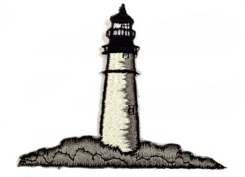 Lighthouse Embroidered Iron On Patch