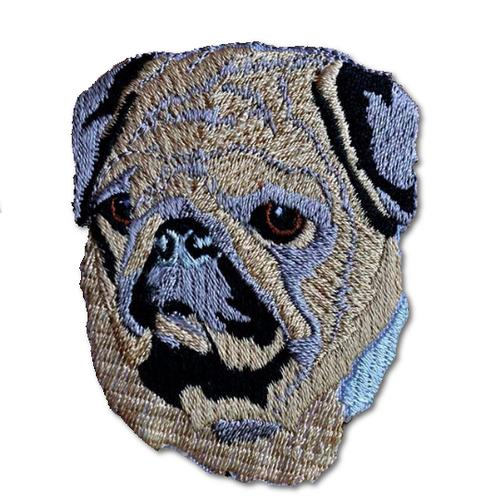 Pug Face Embroidered Iron On Patch