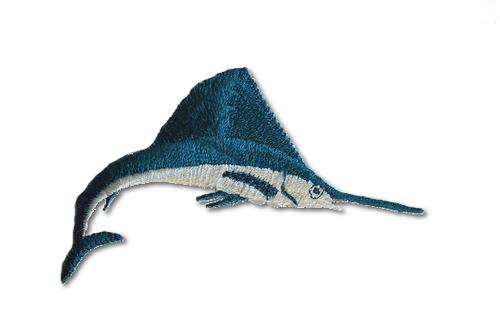 Swordfish Embroidered Iron On Patch