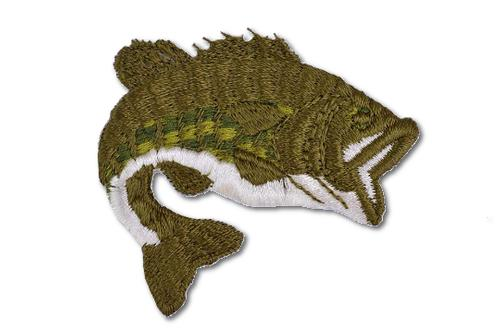 Large Mouth Bass Embroidered Iron On Patch