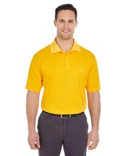 UltraClub Men's Cool & Dry Mesh Pique Polo GOLD