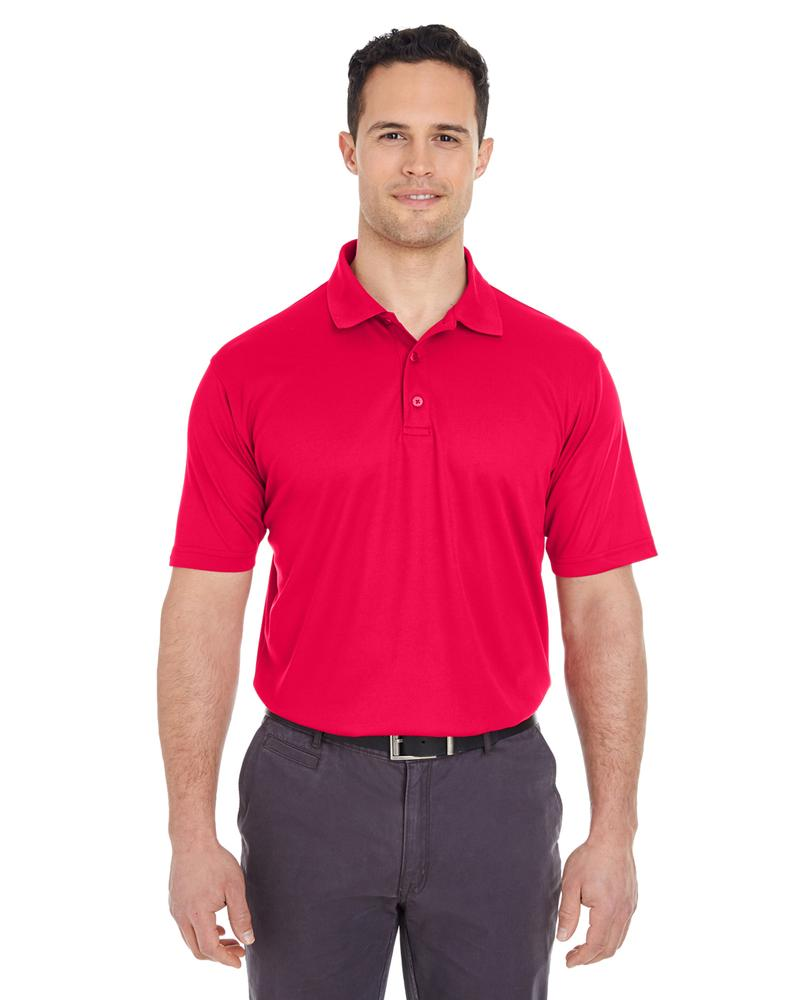 UltraClub Men's Cool & Dry Mesh Pique Polo RED
