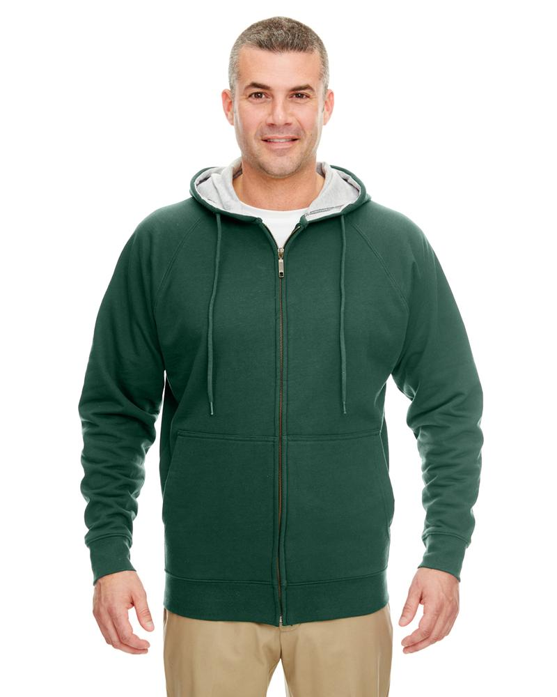 Ultraclub Adult Rugged Wear Thermal Lined Full Zip Hooded Fleece