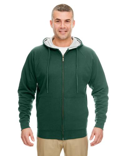 UltraClub Adult Rugged Wear Thermal Lined Full Zip Hooded Fleece