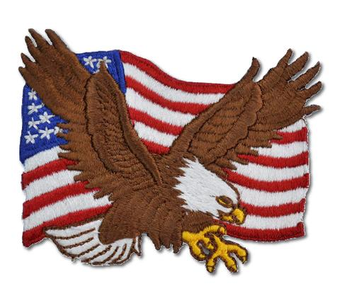 American Eagle Flag Embroidered Iron-On Patch