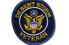 Desert Storm Veteran Embroidered Iron On Patch NAVY