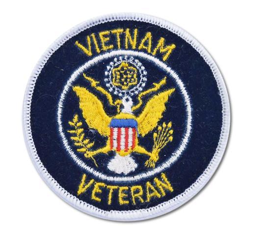 Vietnam Veteran Embroidered Iron On Patch