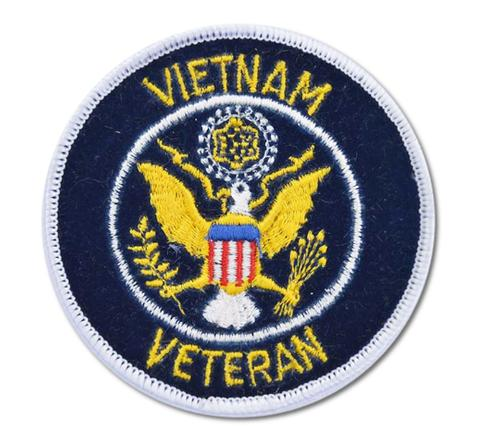 Vietnam Veteran Embroidered Iron On Patch