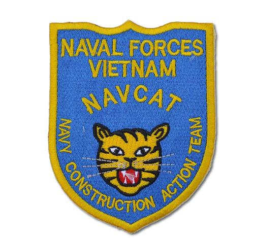 Naval Forces Vietnam NAVCAT Embroidered Iron On Patch