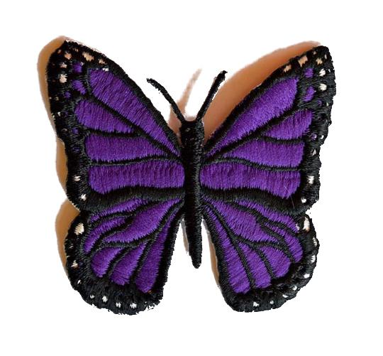 Butterfly Embroidered Iron On Patch