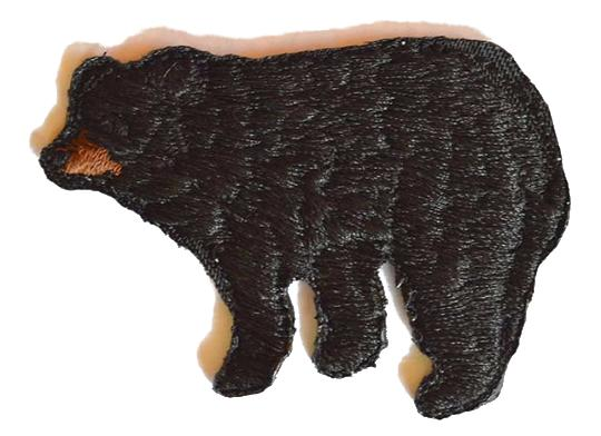 Black Bear Embroidered Iron On Patch