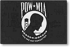 3x5 Ft Pow- Mia Nyl- Glo Flag