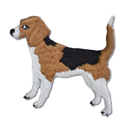 Beagle Embroidered Iron On Patch