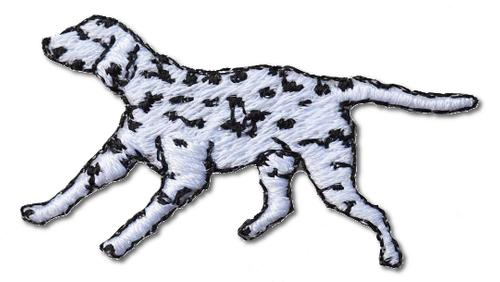 Dalmation Puppy Embroidered Iron On Patch