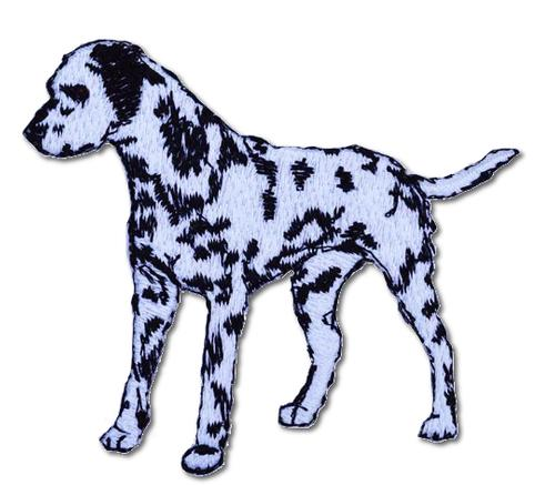 Dalmation (Left Facing) Embroidered Iron On Patch