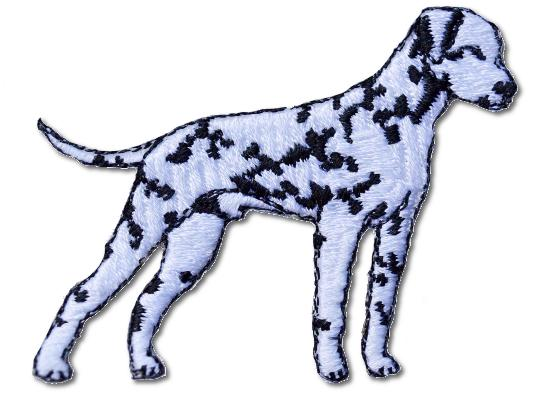Dalmation (Right Facing) Embroidered Iron On Patch