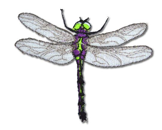 Dragonfly Embroidered Iron On Patch