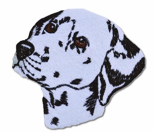Dalmation Face Embroidered Iron On Patch