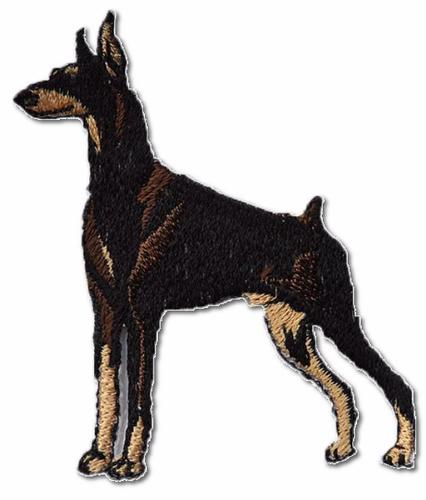 Doberman Pinscher Embroidered Iron On Patch