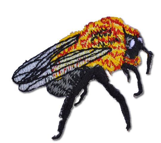 Fly Embroidered Iron On Patch
