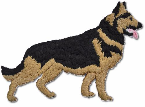 German Shepard Embroidered Iron On Patch