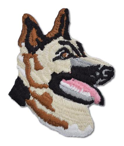 German Shepard Head Embroidered Iron On Patch