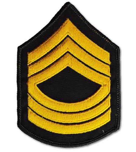 US Army Master Sergeant Embroidered Iron On Patch